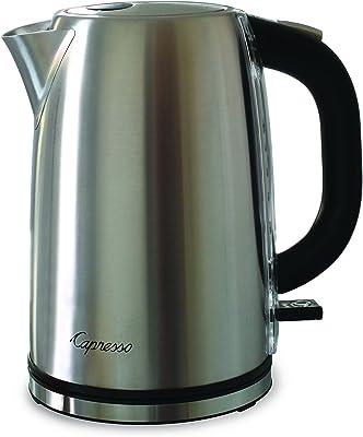 Capresso H2O Steel Water Kettle, Silver
