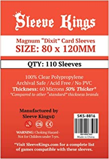 Sleeve Kings Magnum Dixit Card Sleeves (80x120mm) - 110 Pack, 60 Microns