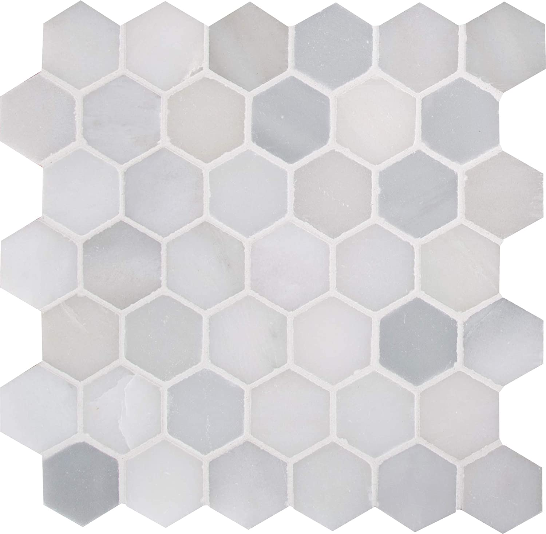 9.8 Sq. Ft. Case Exquisite Elegant Luxury Modern White Hexag 5 ☆ very popular 5 ☆ very popular