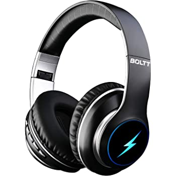 Fire-Boltt Blast 1200 On-Ear Bluetooth Headphones with Glow Lights, 20H Playtime, 1000mAh Battery and Shocking Bass and Built in Mic