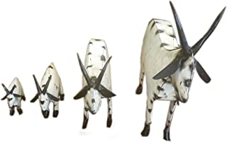 Rustic Furniture Delivered Metal Recycled Goat for Yard Art Metal Art-Sculpture-Garden Made in Mexico Small (16 Long by 14 High)