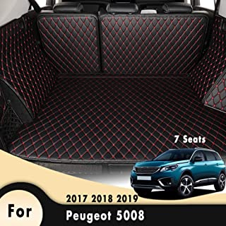 HCDSUSN Car Floor Trunk Carpet Rugs Mats Automobile Accessories Car Styling Mat Rug,for Peugeot 5008 MK2 (7 Seats) 2017 2018 2019