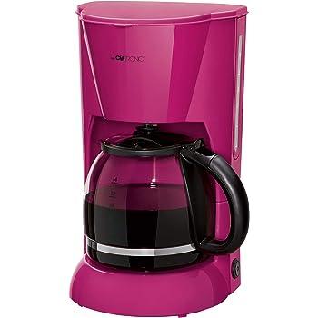 Clatronic KA 3473 Cafetera eléctrica de goteo automática, máquina café de filtro capacidad 12 a 14 tazas, 1,5 litros, función de mantenedora calor, 900 W, Cups, Plástico, Morado: Clatronic: Amazon.es: Hogar