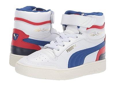 Puma Kids Ralph Sampson Mid (Little Kid) (Puma White/Surf the Web/Marshmallow) Kids Shoes