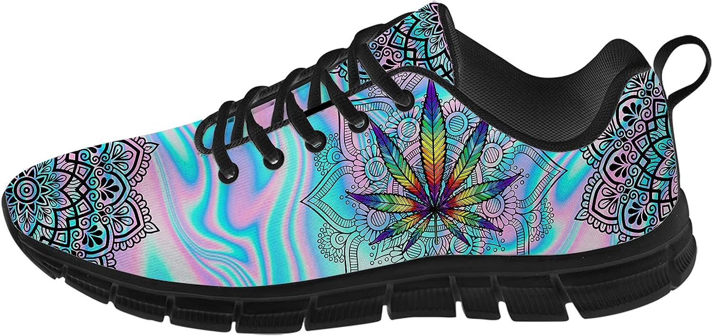 Ciadoon Marijuana Shoes Mens Walking Running Tennis Opening large release sale Womens Choice