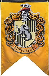 Hogwarts School of Witchcraft Banner for Harry Potter Wizardry Flag Poster Wall Decals Magical Wizard School Crest Party Decoration (Hufflepuff)