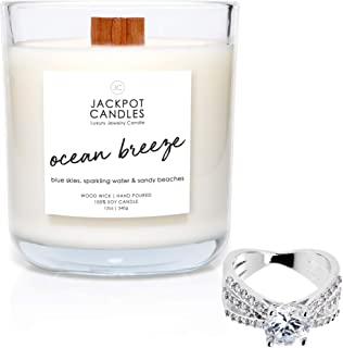 Ocean Breeze Candle with Ring Inside (Surprise Jewelry Valued at $15 to $5,000) Ring Size 9