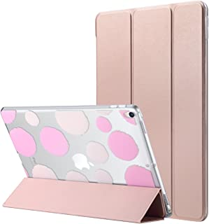 ULAK iPad Pro 10.5 Case, Slim Lightweight Smart Case Stand for Apple iPad Pro 10.5 inch 2017 Released Colorful Clear Back Cover with Auto Sleep/Wake Function, Rose Gold
