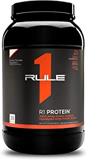 Rule One Proteins, R1 Protein - White Chocolate Raspberry, 25g Fast-Acting, Super-Pure 100% Isolate and Hydrolysate Protei...