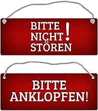 """Kichwit Sichtschutzschild mit der Aufschrift /""""Do Not Disturb/"""" Schild f/ür B/üros Schwarz /""""Out of Office/"""" /""""Welcome Please Knock/"""" Besprechungszimmer 12,7 cm"""