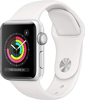 Apple Watch Series 3 (GPS, 38‑mm) - Kast van Zilverkleurig Aluminium Wit Sportbandje