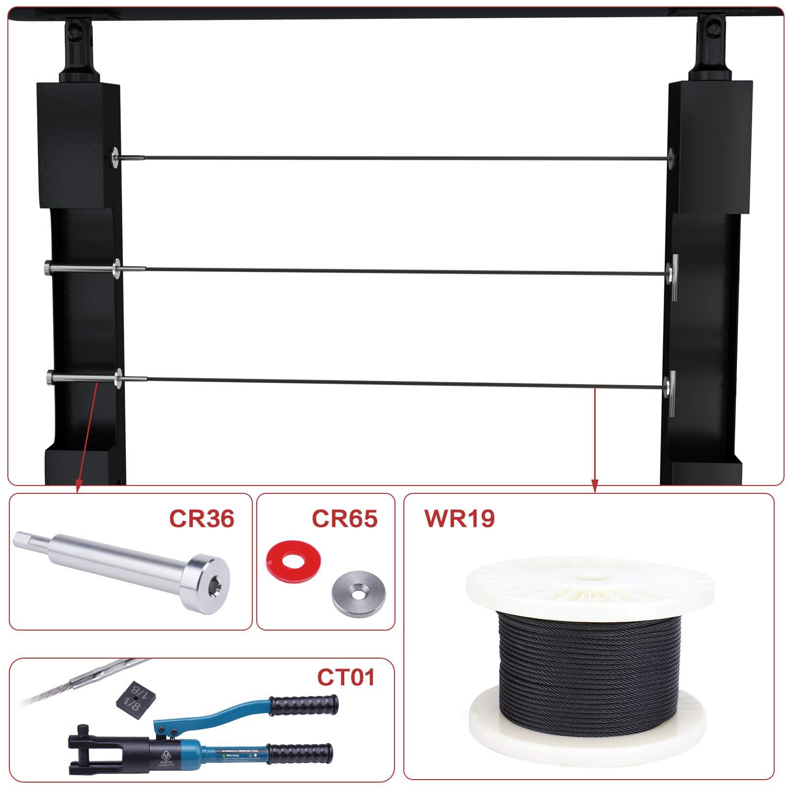 color plateado M6 6 mm SeKi 14078 10 unidades Terminal de cable de tubo