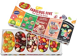 Jelly Belly Fabulous Five Jelly Beans Gift Box, 5 Assorted Flavor Mixes, 4.25-oz
