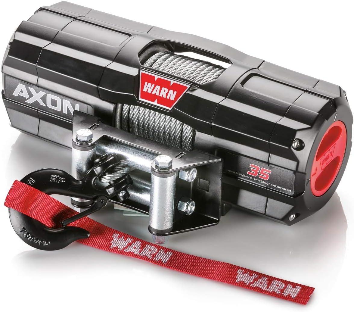 WARN 101135 AXON 35-Cabrestante de Cuerda de Alambre, Plata, 3,500 lbs
