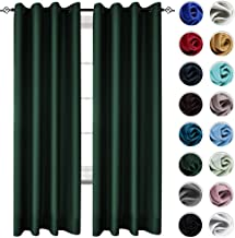 KEQIAOSUOCAI Green Emerald Window Curtains 95 Inch Room Darkening Blackout Curtain Set Thermal Insulated Grommets Drapes for Bedroom Living Room 2 Panels