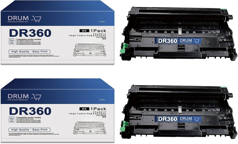 DR360 DR 360 Drum Unit Compatible Replacement for Brother DR-360 MFC-7840 MFC-7840W DCP-7030 DCP-7040 DCP-7045N HL-2120 MFC-7345DN MFC-7345N MFC-7440 MFC-7440N Printer (1-Pack,Black)
