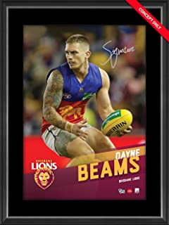 Sport Entertainment Products Dayne Beams Signed Vertiramic