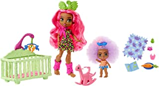 Cave Club Wild About Babysitting Playset with 2 Dolls and Accessories, 4 Years and Up
