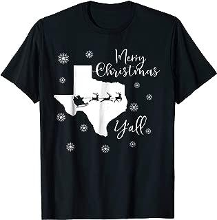 Funny Texas Christmas Shirt - Merry Christmas Y'all