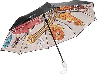 HUANHUA 折り畳み傘 レディース 自動開閉 ワンタッチ コンパクト かわいい おしゃれ 晴雨兼用 折りたたみ傘 テフロン超撥水 紫外線予防加工 遮光遮熱 持ち運びに便利