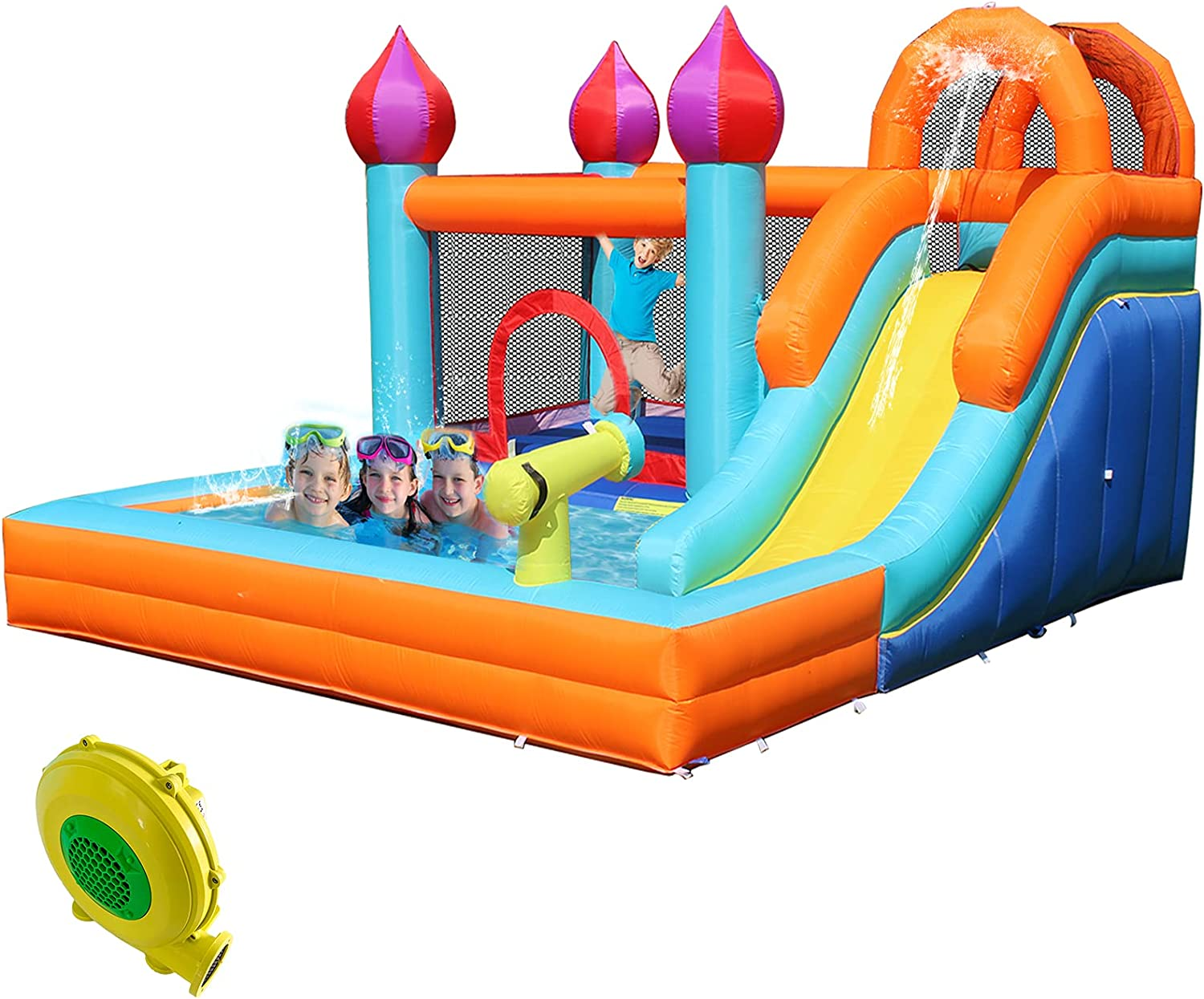 HIJOFUN Inflatable Water Slide Kids House Max Max 72% OFF 66% OFF for Bounce Backyard