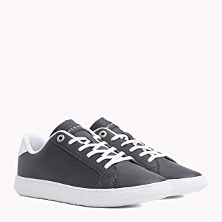 TOMMY HILFIGER Men's Essential Leather Trainers Contast top Eyelets