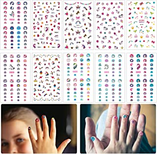 Madholly 10 sheets Self Adhesive Unicorn Nail Art Stickers Decals Manicure Decoration for Little Girls for Fingernails Toe...