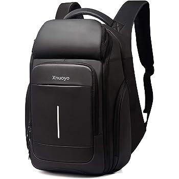Xnuoyo TSA Friendly Laptop Zaino, 15.6 Pollici Resistente all'Acqua Zaino per Computer con Borsa Termostatica e Tasche RFID Daypack Casual per Scuola/Affari/Lavoro/Uomini/Donne
