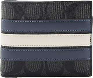F26072 3-IN-1 WALLET IN SIGNATURE CANVAS WITH VARSITY STRIPE (black)