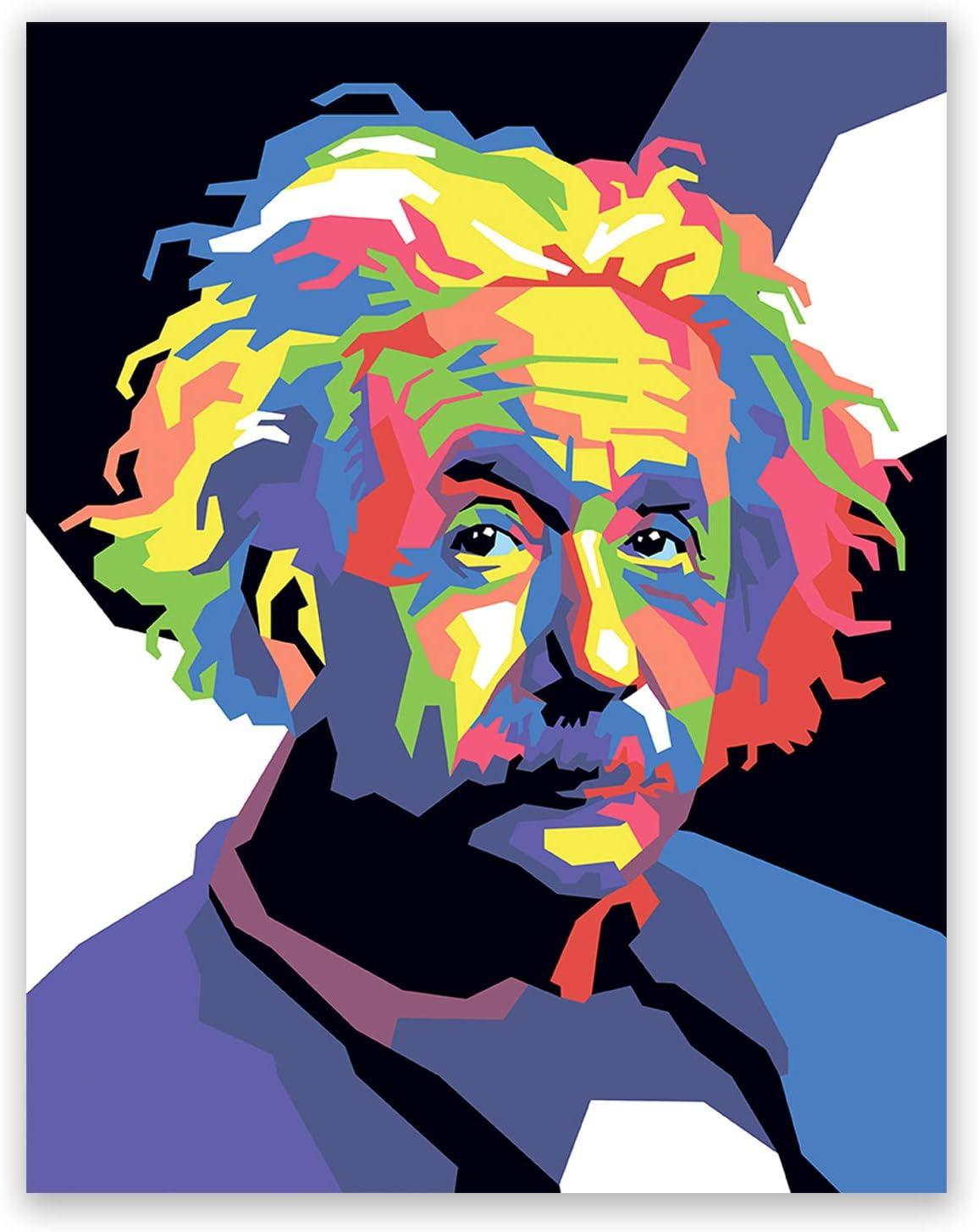 Albert art print graffiti art Einstein print pop art home decor street art poster Albert art decor office wall wall art gift