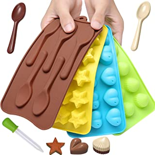 Fancy Chocolate Candy Mold Silicone Trays + Recipes eBook - Nonstick, BPA-Free and FD Approved - Make Fat Bombs, Fun Choco...