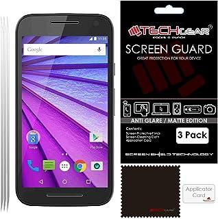 TECHGEAR [Pack med 3] ANTI GLARE skärmskydd för Moto G (3rd Gen/2015 utgåva) – MATTE LCD-skärmskydd skydd skydd skydd komp...