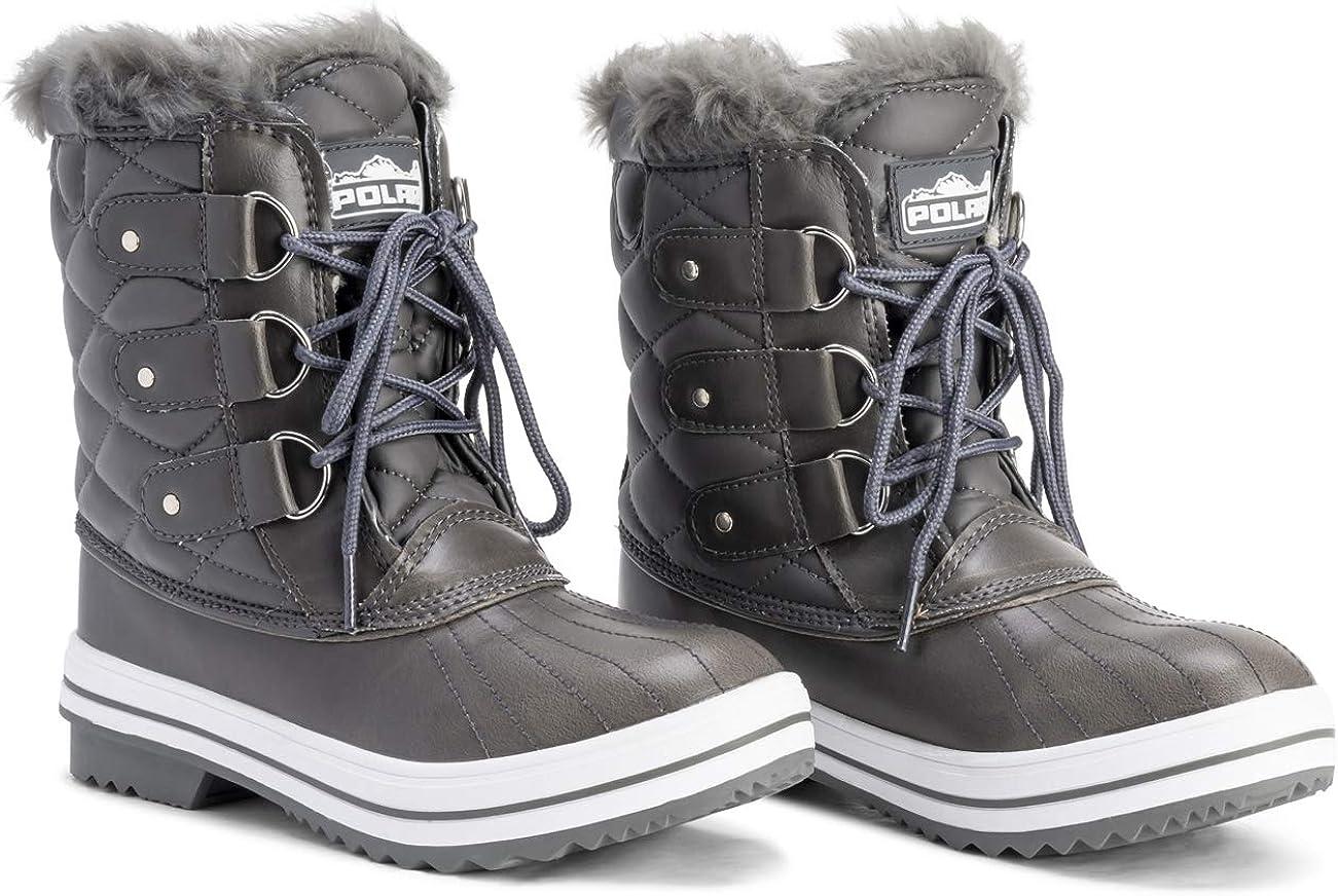 Donna Neve Stivale Nylon Short Inverno Neve Pioggia Caldo Impermeabile Pelliccia Ecologica Stivales