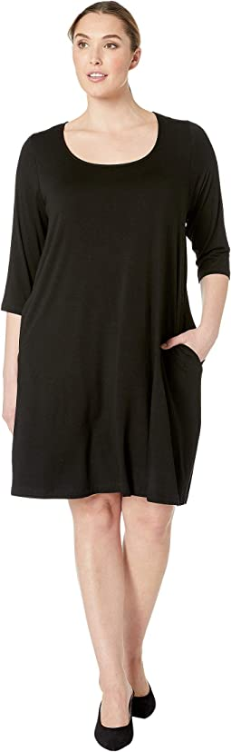 Plus Size 3/4 Sleeve Chloe Dress