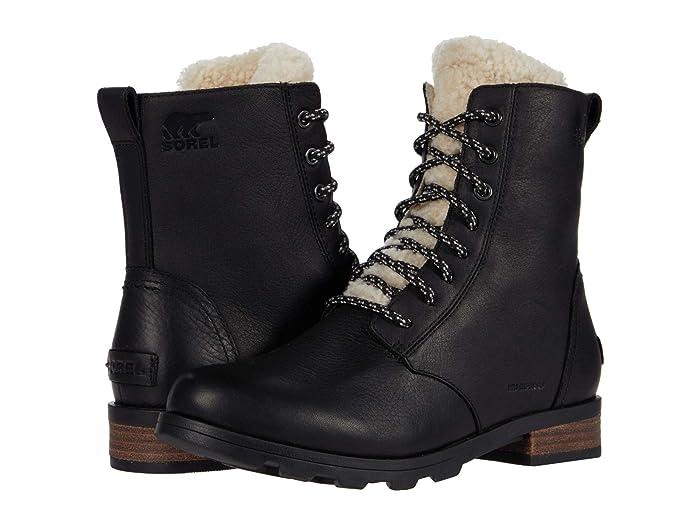 Vintage Boots- Winter Rain and Snow Boots History SOREL Emelietm Short Lace Cozy Black Womens Boots $127.50 AT vintagedancer.com
