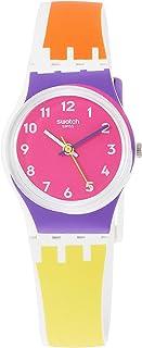 Swatch Women's Quartz Watch with Silicone Strap, Multicolour, 16 (Model: LW165)