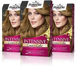 Palette Intense Cream Coloration Intensive Coloración del Cabello 7 Rubio Medio - Pack de 3