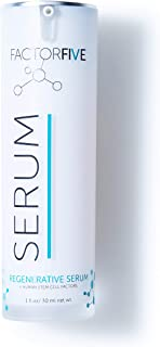 FACTORFIVE Regenerative Serum with Stem Cell Growth Factors, HGF for Skin Tightening and Smoothing, Wrinkle and Pore Reduc...