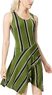 Bar III Sleeveless Handkerchief-Hem Dress
