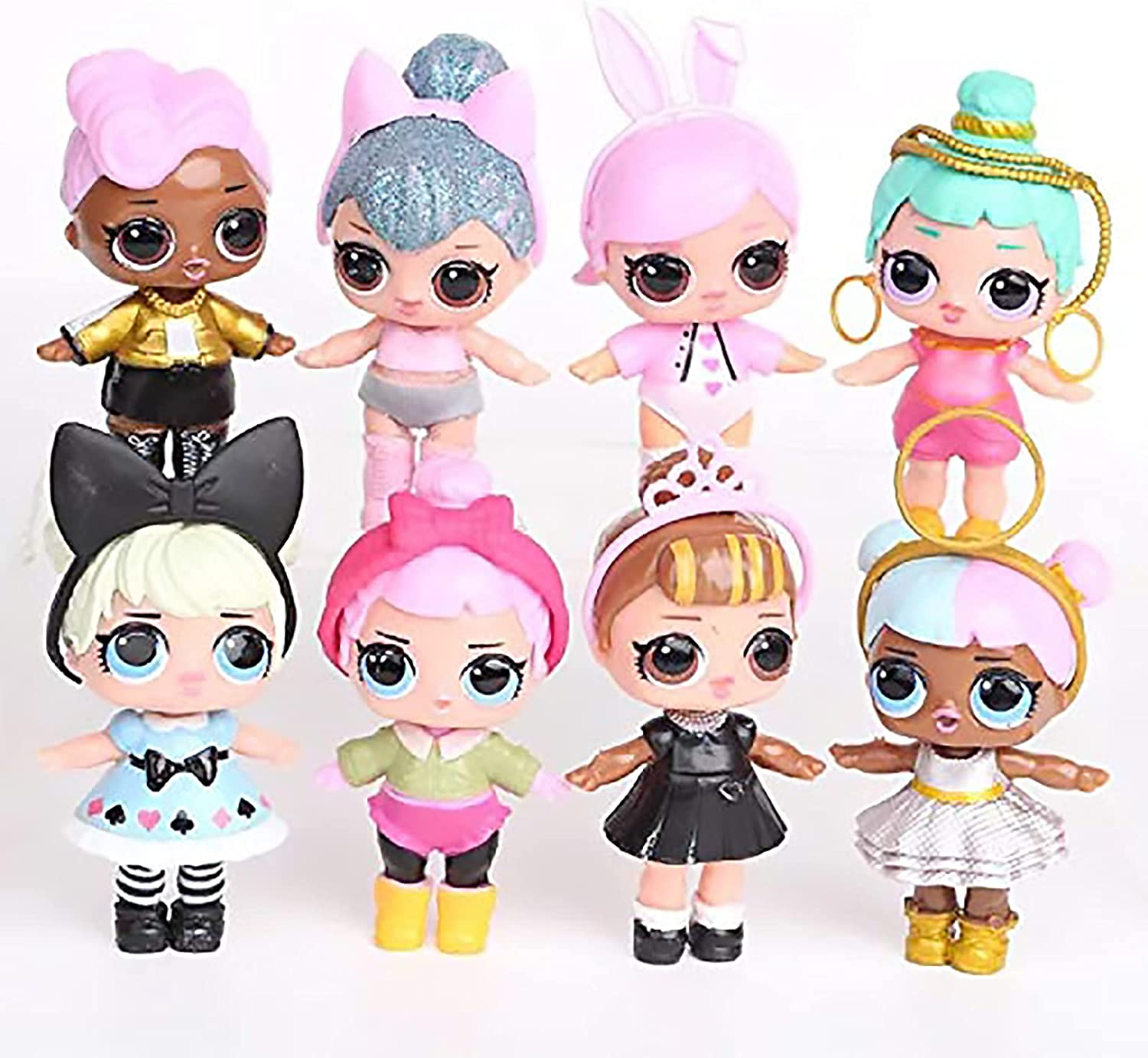 8PCS sold out Dolls Cake Toppers Decoration Birthday Sales of SALE items from new works P Figures for Girls