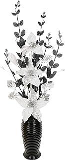 Flourish Creative Florals 5055278722814 Composition Florale Artificielle, Polyester, Blanc, moyen, 80cm