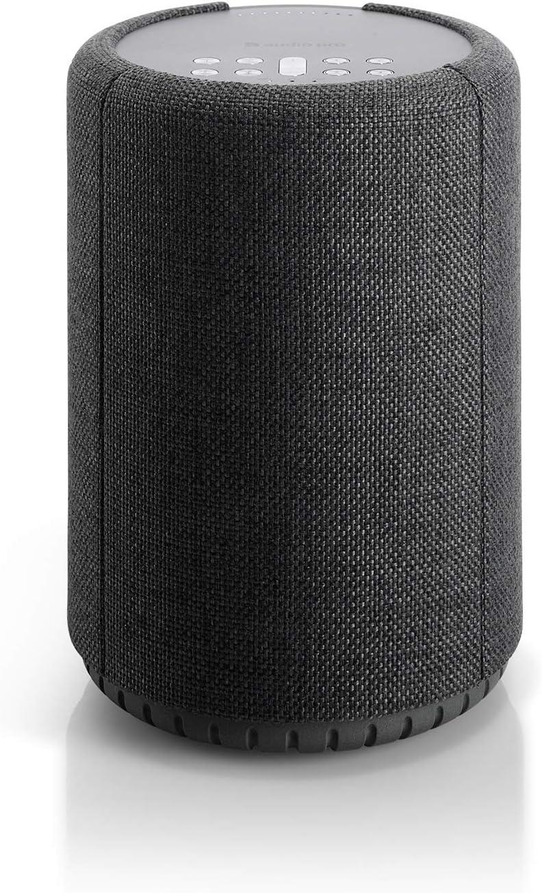 Altavoz Inalámbrico Multiroom, Altavoz Portátil, Control de Voz, Amazon Alexa, Control por Voz, Hi-Fi, WiFi, Altavoz Bluetooth, Audio Pro, A10, Gris Oscuro