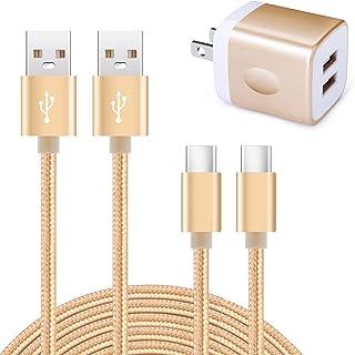 「2ポートUSB充電器*1個+USB Type-Cケーブル1.8m*1本、0.9m*1本」Viviber cタイプ急速充電器 タイプc充電ケーブル スマホ充電器 AC USBコンセント アンドロイド充電器 ドコモ携帯充電器 Xperia充電器 ...