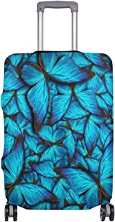 Mydaily Blue Butterfly Luggage Cover Fits 29-32 Inch Suitcase Spandex Travel Protector XL