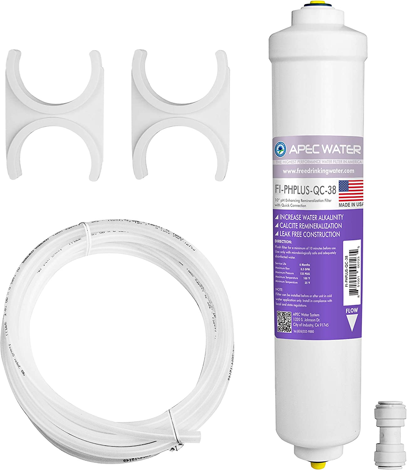 APEC Water Systems PHPLUSKIT-38 Water Replacement Filter, White