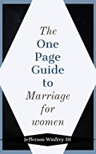 The One Page Guide To Marriage for Women (English Edition)