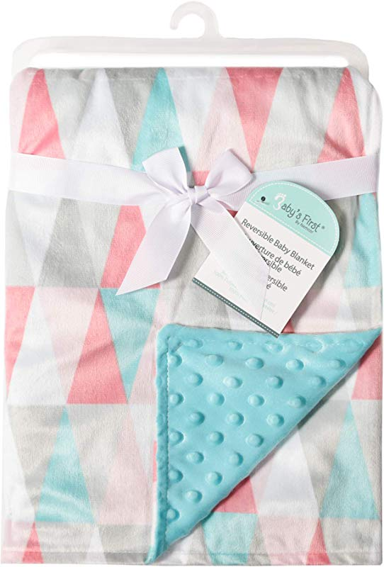 Baby S First By Nemcor Girl Blanket Decorative Triangles