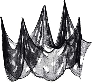 EDIWUIAND Black Spooky Cheesecloth Halloween Creepy Cloth Halloween Decoration for Haunted Party House Supplies 1.2x7.2m