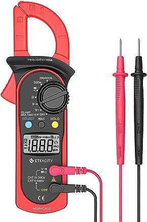 Etekcity Digital Clamp Meter Multimeter, MSR-C600 Auto-Ranging Multimeters AC/DC voltmeter Ammeter with Voltage, AC Current, Amp, Volt, Ohm, Diode and Resistance Test Tester