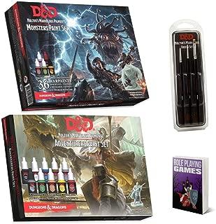 Mega D&D Army Painter Miniature Paint Kit Bundle, D&D Monsters, Adventurers Paint Set, DND Nolzur's Marvelous Brush Set, Miniature Painting Kit, Acrylic Art Supplies, Needed, Comes with